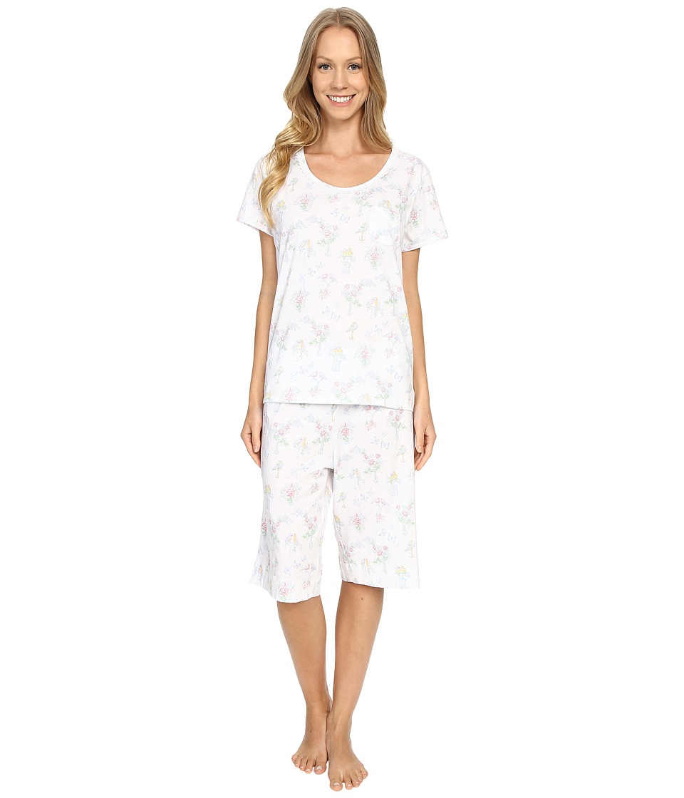 Carole Hochman - Key Item Bermuda Pajama (Birds) Women's Pajama Sets