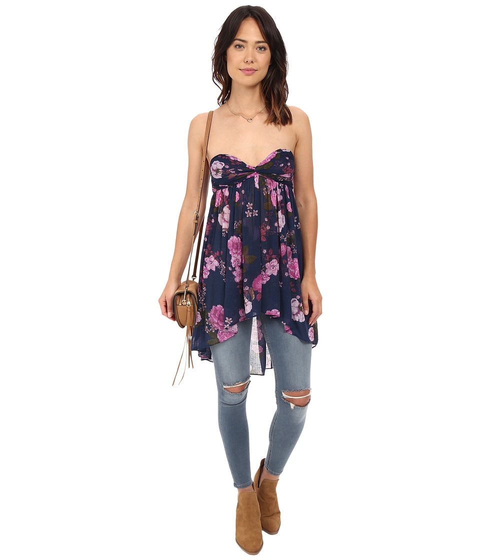 Free People - Mirage Top (Blue) Women's Blouse