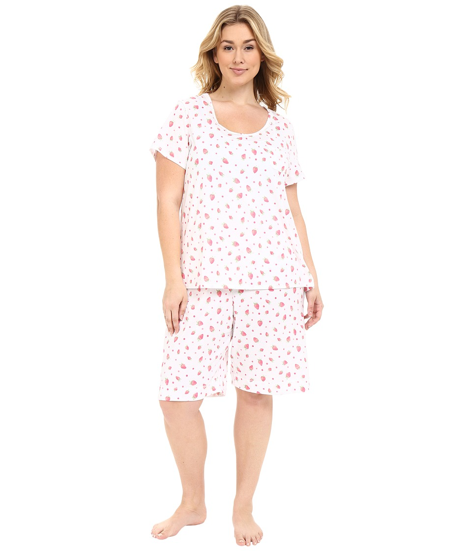 Carole Hochman - Plus Size Key Item Bermuda Pajama (Strawberries) Women's Pajama Sets