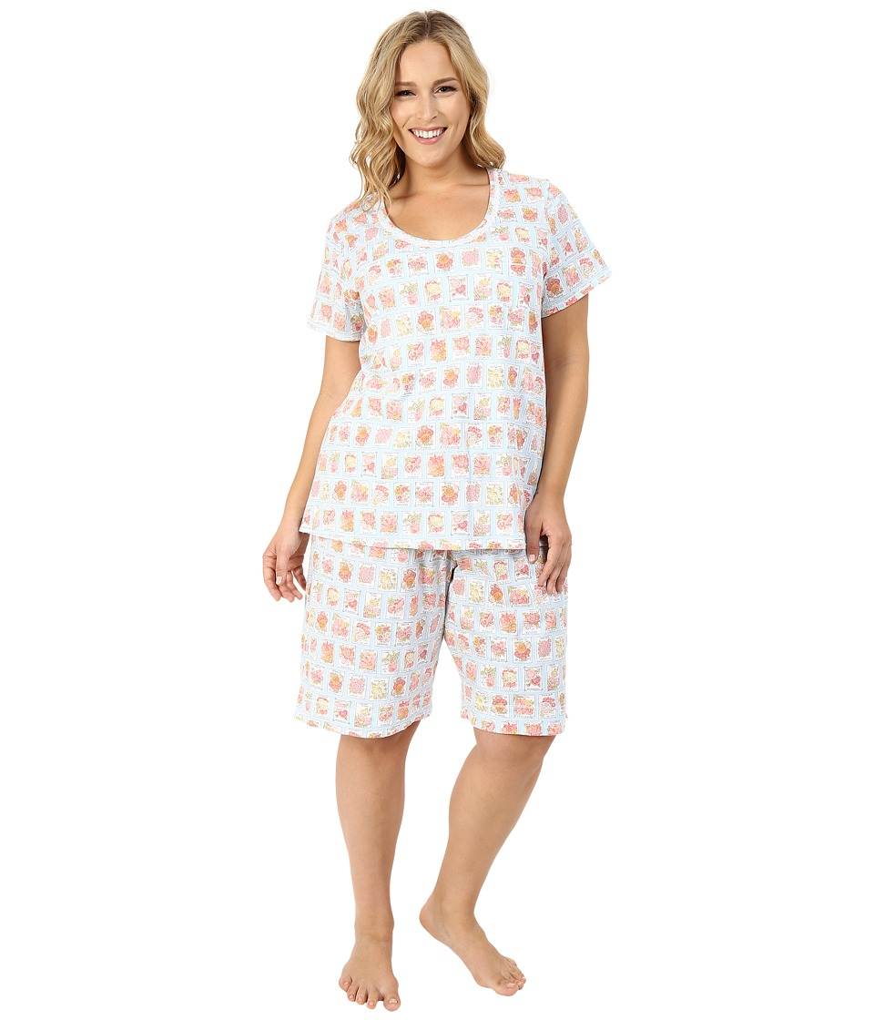 Carole Hochman - Plus Size Key Item Bermuda Pajama (Seeds) Women's Pajama Sets