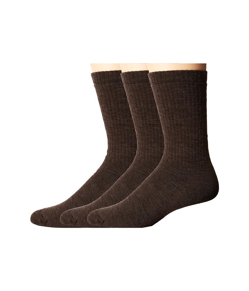 Smartwool - Heavy Heathered Rib 3-Pack (Chestnut) Men's Crew Cut Socks Shoes