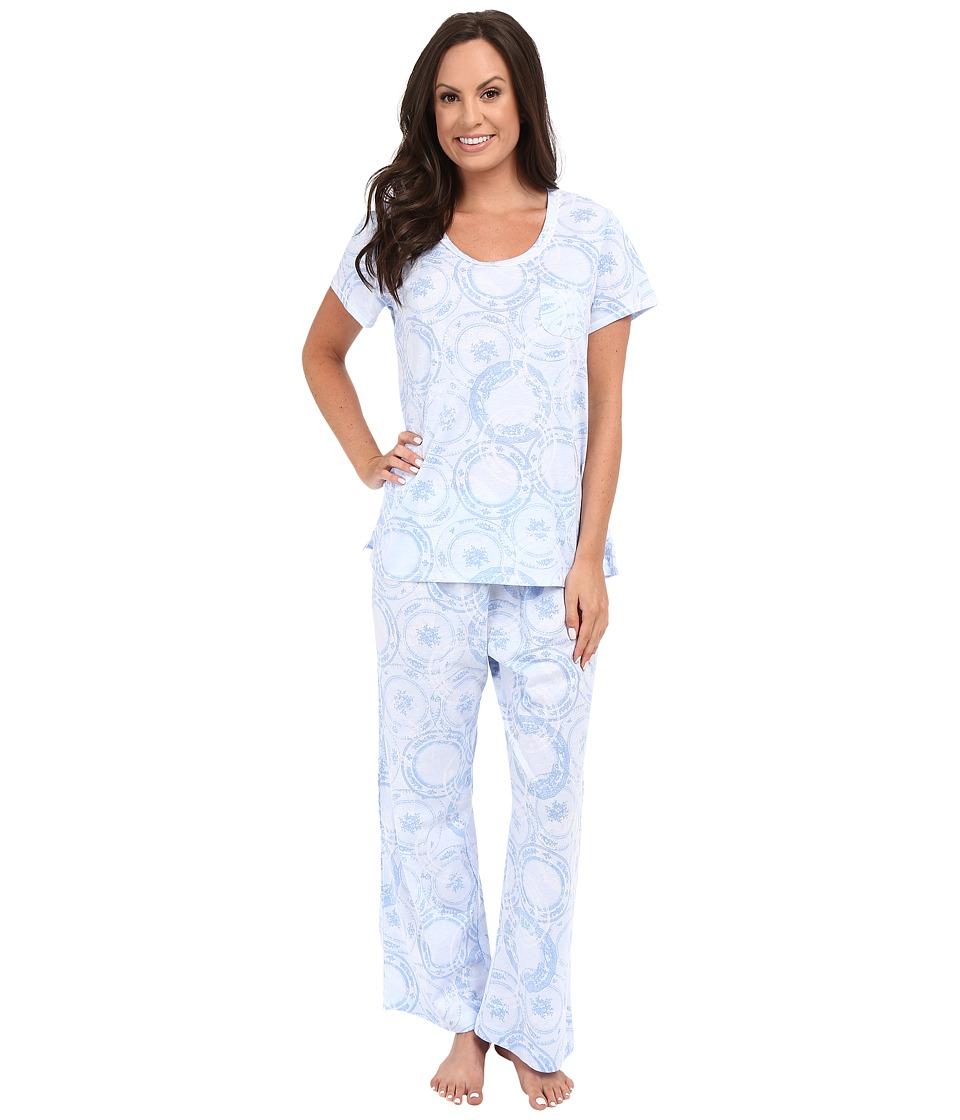 Carole Hochman - Capris Pajama (Blue Porcelain) Women's Pajama Sets