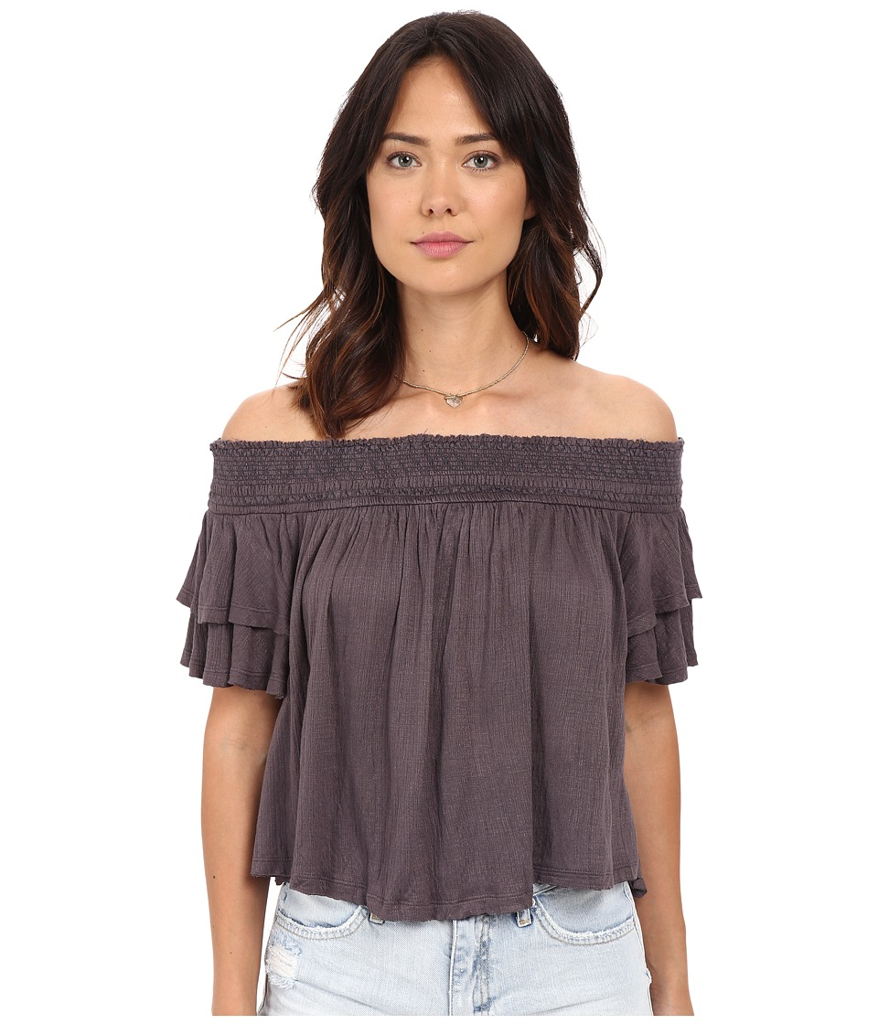 Free People - Santorini Top (Washed Grey) Women's Blouse