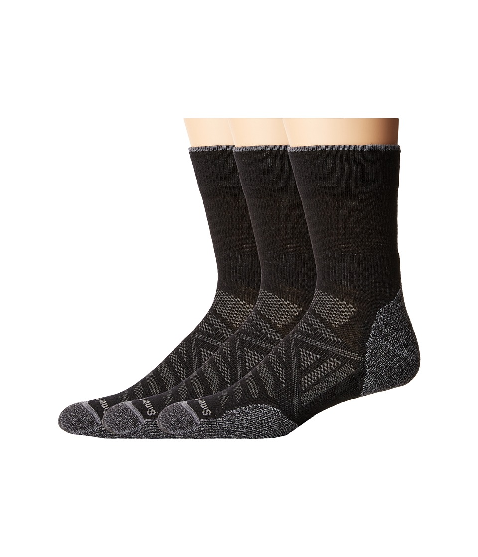 Smartwool - PhD Outdoor Light Micro 3-Pack (Black) Crew Cut Socks Shoes