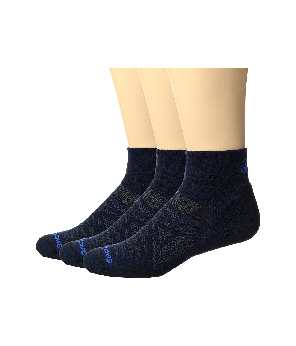Smartwool - PhD Outdoor Light Mini 3-Pack (Deep Navy/Black) Crew Cut Socks Shoes