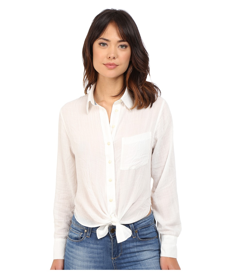 Free People - That's A Wrap Shirt (Ivory) Women's Blouse