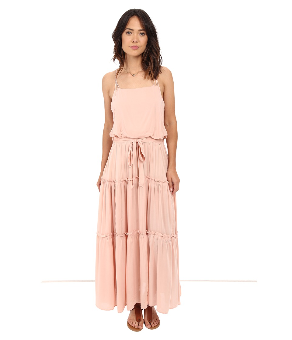 Free People - Valerie Solid Maxi Dress (Peach) Women's Dress