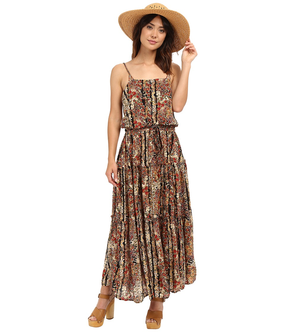 Free People - Valerie Printed Maxi Dress (Black Combo) Women's Dress