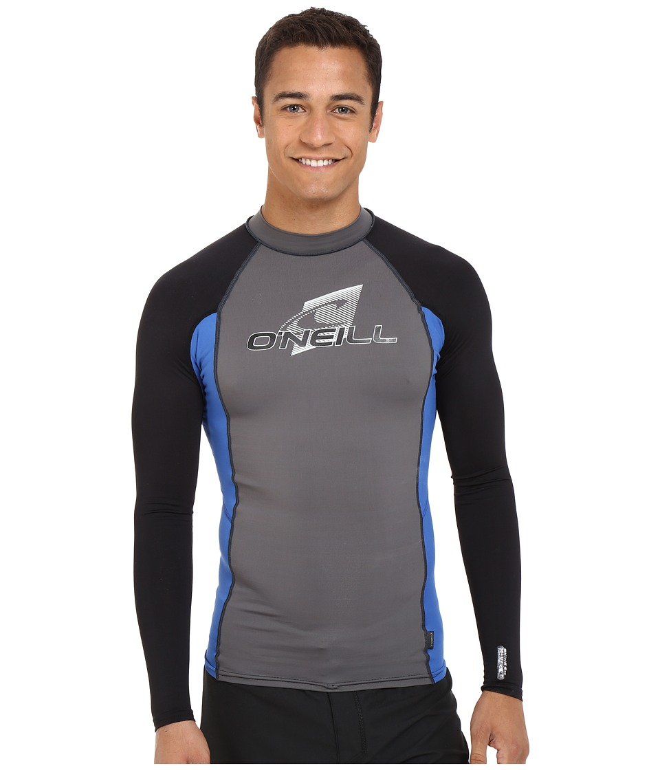 O'Neill - Skins L/S Crew (Graph/Deep Sea/Black) Men's Swimwear