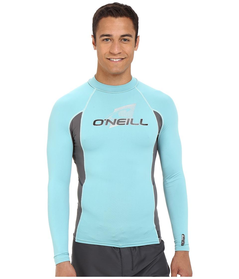 O'Neill - Skins L/S Crew (Mineral/Graphite/Mineral) Men's Swimwear