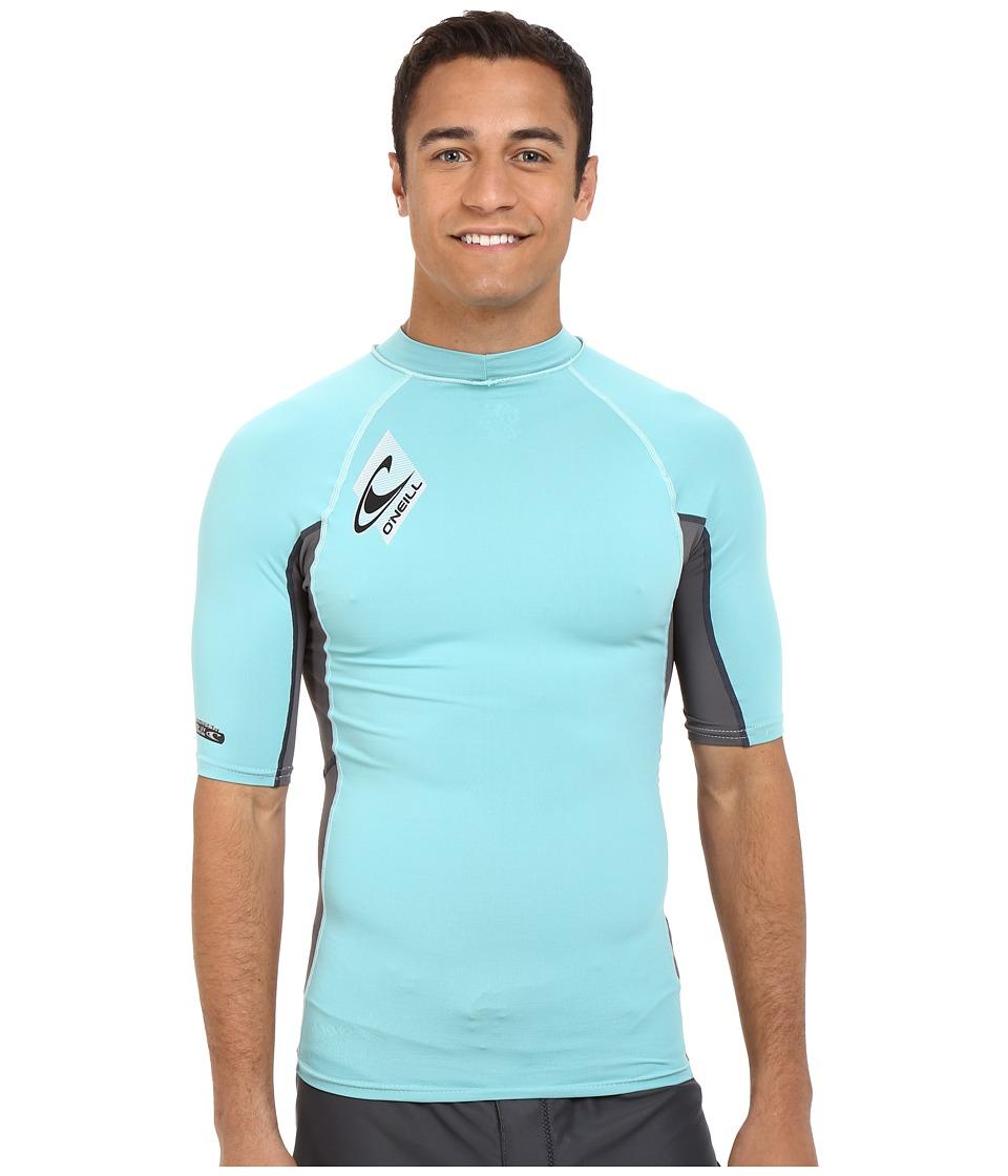 O'Neill - Skins S/S Crew (Mineral/Graphite/Mineral) Men's Swimwear
