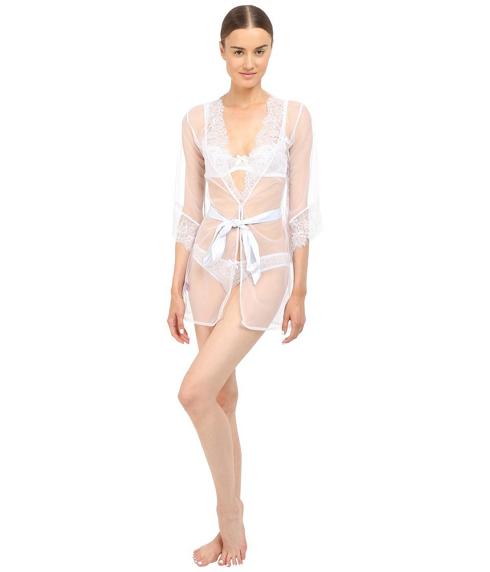 L'Agent by Agent Provocateur - Idalia Short Gown (White) Women's Lingerie
