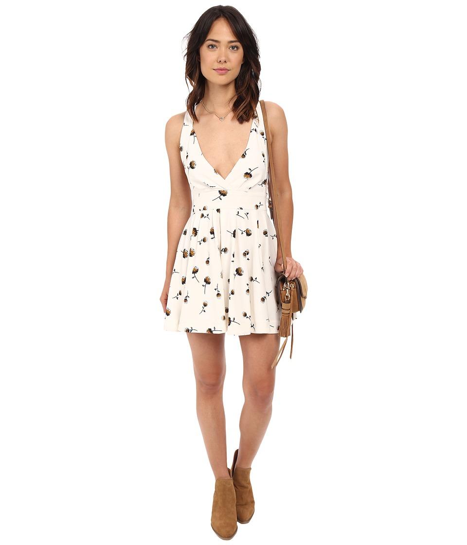 Free People - Mini's For You Printed Mini Dress (Ivory) Women's Dress