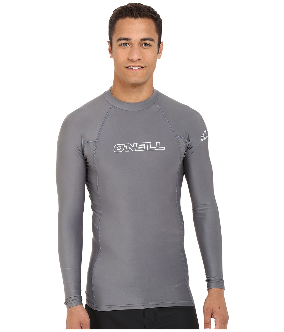 O'Neill - Basic Skins L/S Crew (Smoke) Men's Swimwear
