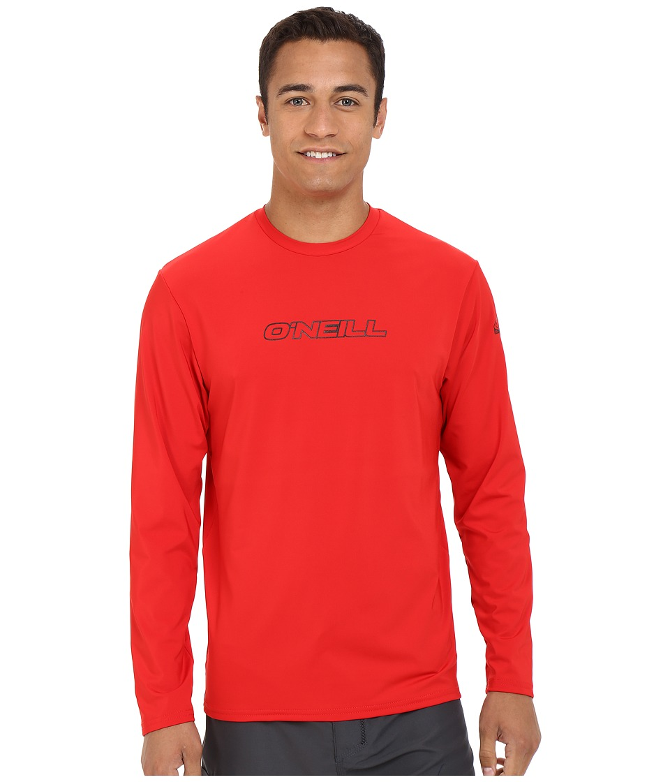 O'Neill - Basic Skins L/S Rash Tee (Red) Men's Swimwear