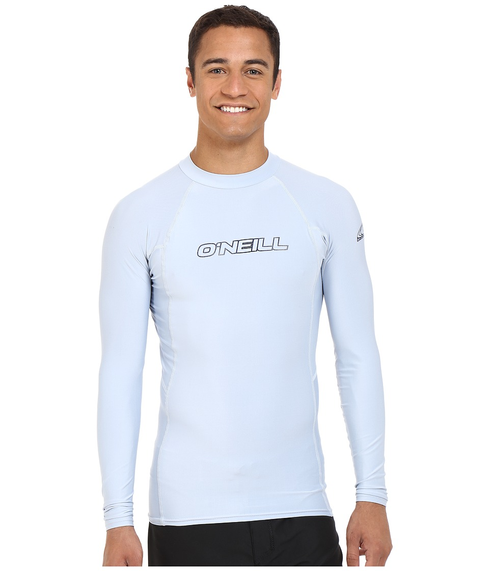 O'Neill - Basic Skins L/S Crew (Fog Blue) Men's Swimwear