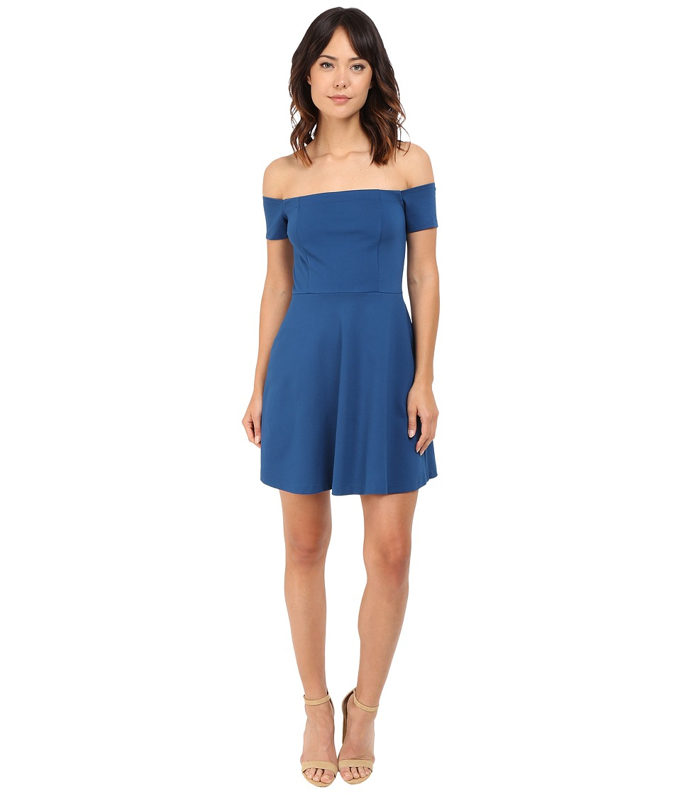 Free People - Black Mambo Mini Dress (Blue) Women's Dress