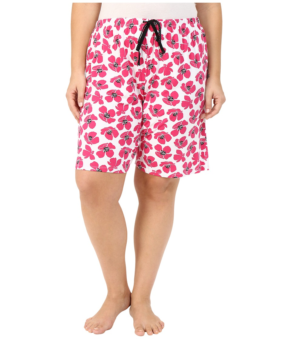 Jockey - Plus Size Printed Bermuda Shorts (Graphic Floral) Women's Pajama