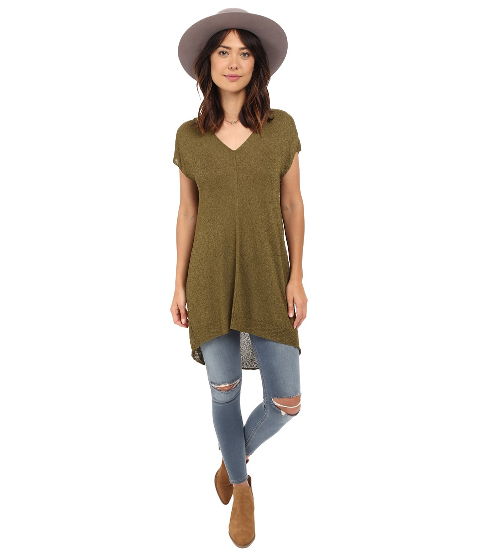 Free People - Take It Easy Tunic (Moss) Women's Sweater