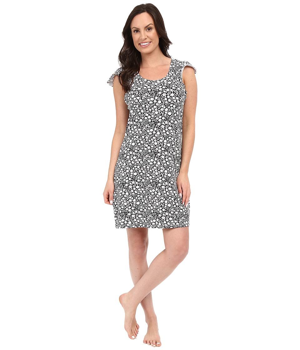 Jockey - Flutter Sleeve Sleepshirt (Outline Floral) Women's Pajama