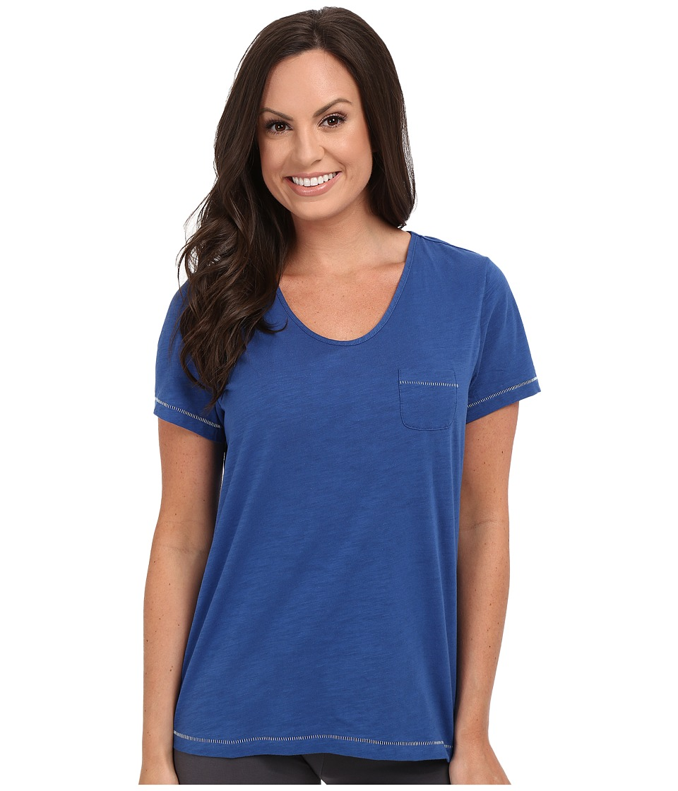 Jockey - Short Sleeve Top (True Blue) Women's Pajama