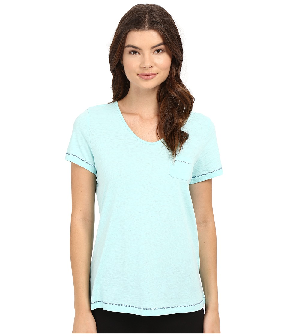 Jockey - Short Sleeve Top (Fresh Aqua) Women's Pajama