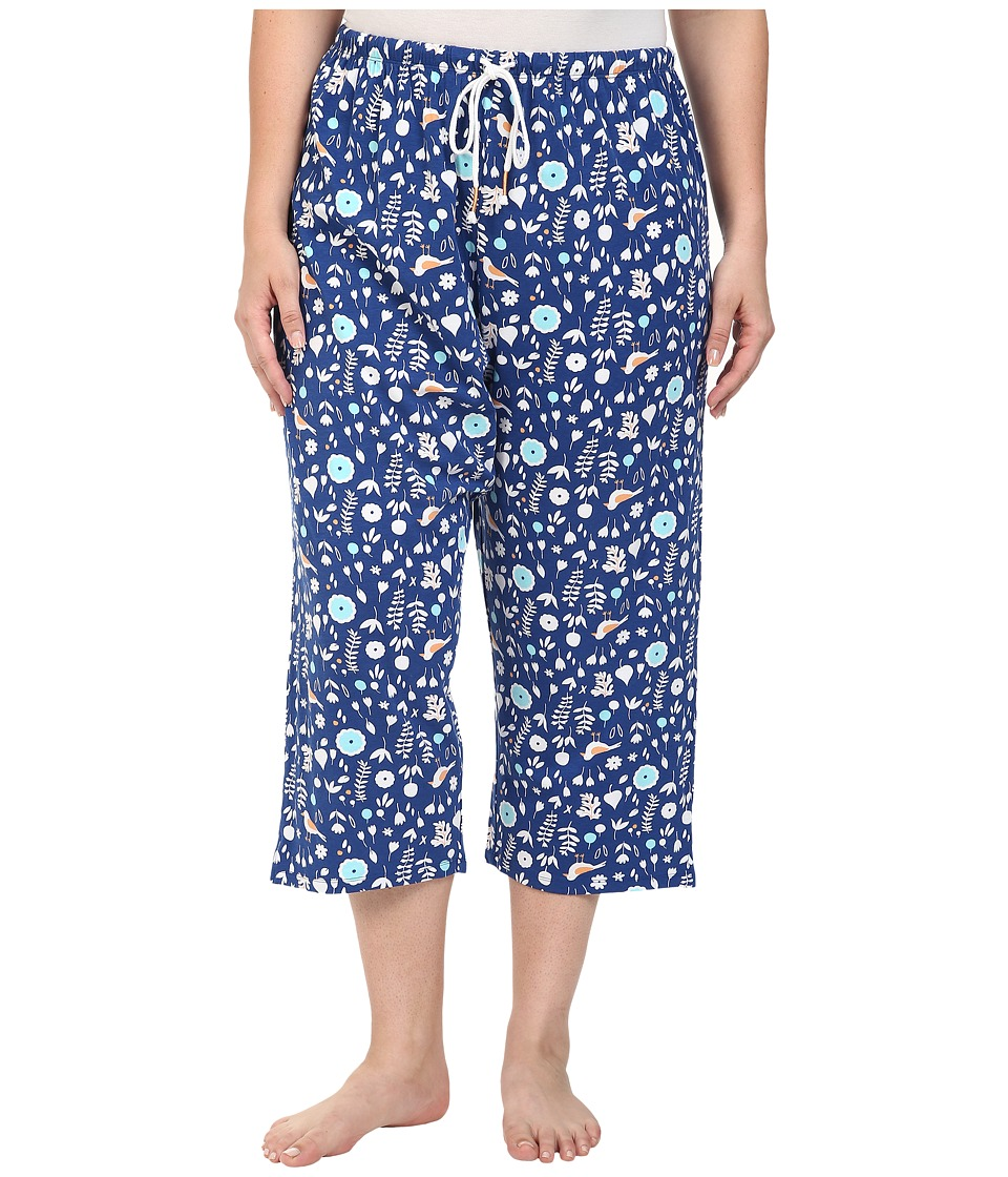 Jockey - Plus Size Printed Capri Pants (The Pond) Women's Pajama