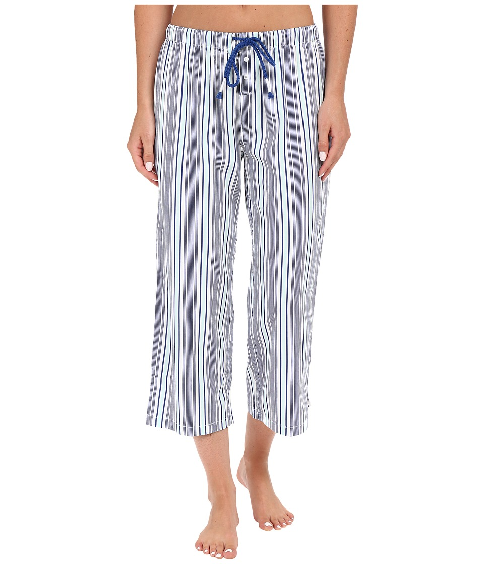 Jockey - Cotton Sateen Capri Pants (Woven Stripe) Women's Pajama plus size,  plus size fashion plus size appare