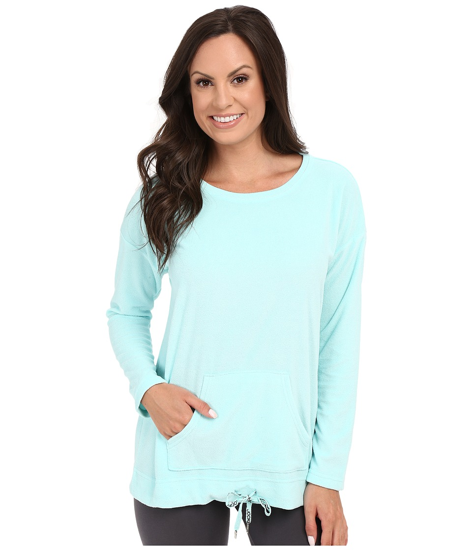 Jockey - Vintage Terry Long Sleeve Top (Fresh Aqua) Women's Pajama plus size,  plus size fashion plus size appare
