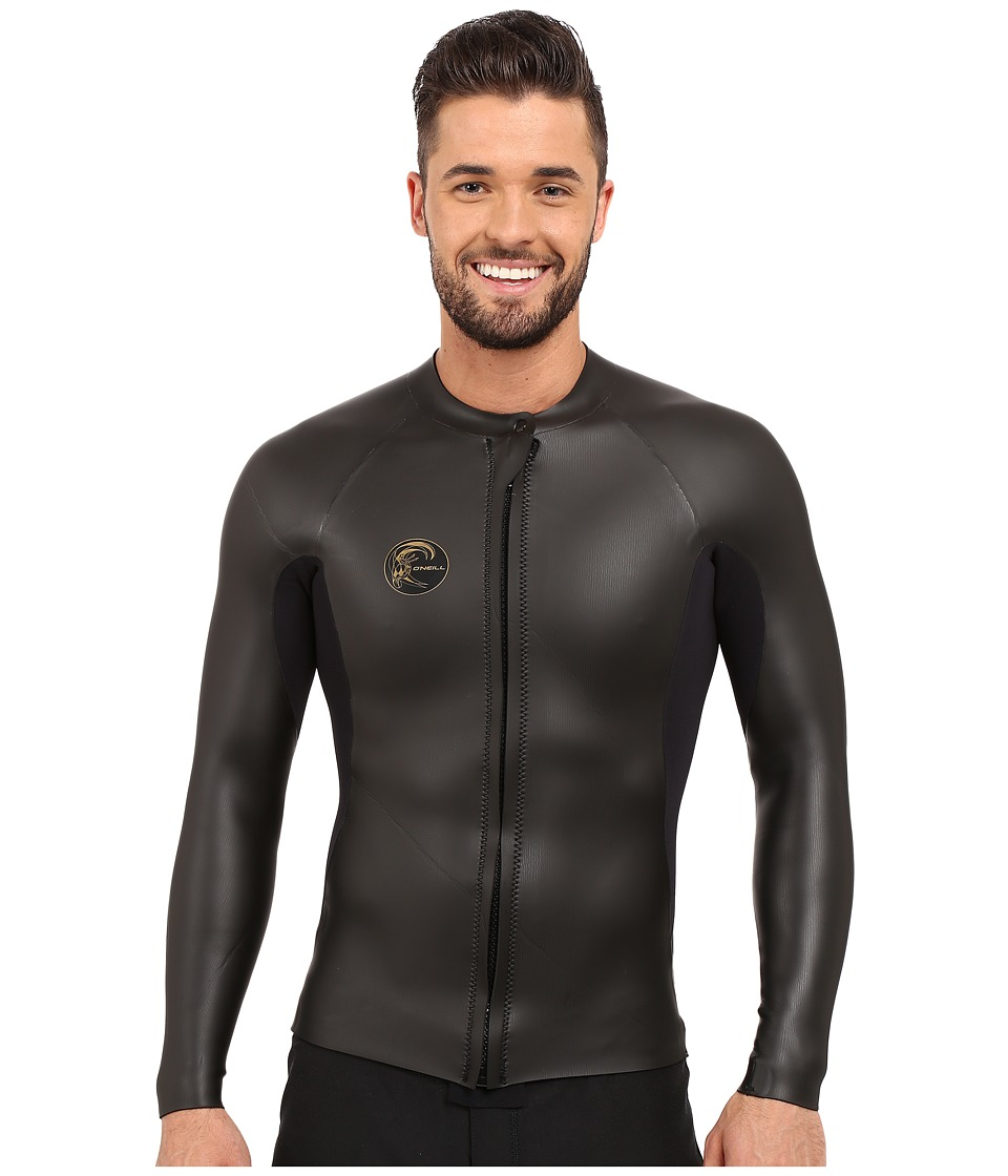 O'Neill - O'Riginal GBS 2mm Front Zip Jacket (Black/Black) Men's Swimwear