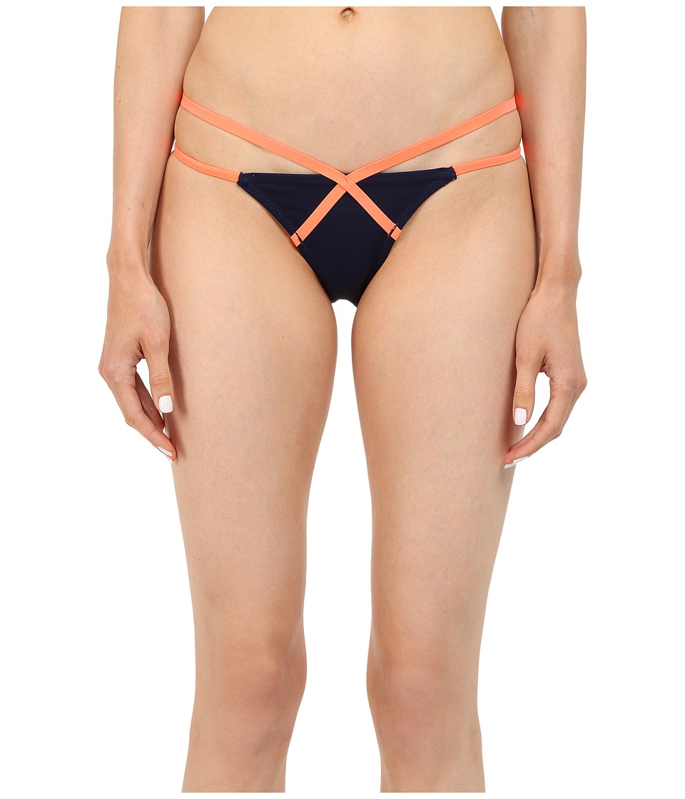 L'Agent by Agent Provocateur - Eleena Bikini Bottom (Navy/Neon Melon) Women's Swimwear
