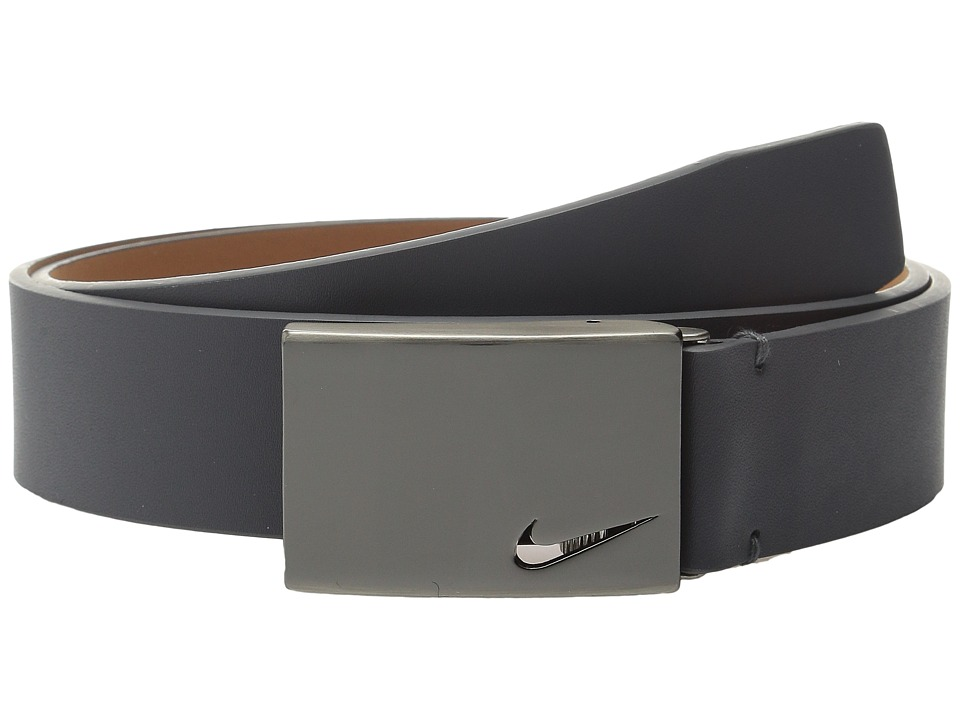 Nike - No-Hole Plaque (Dark Grey) Men's Belts