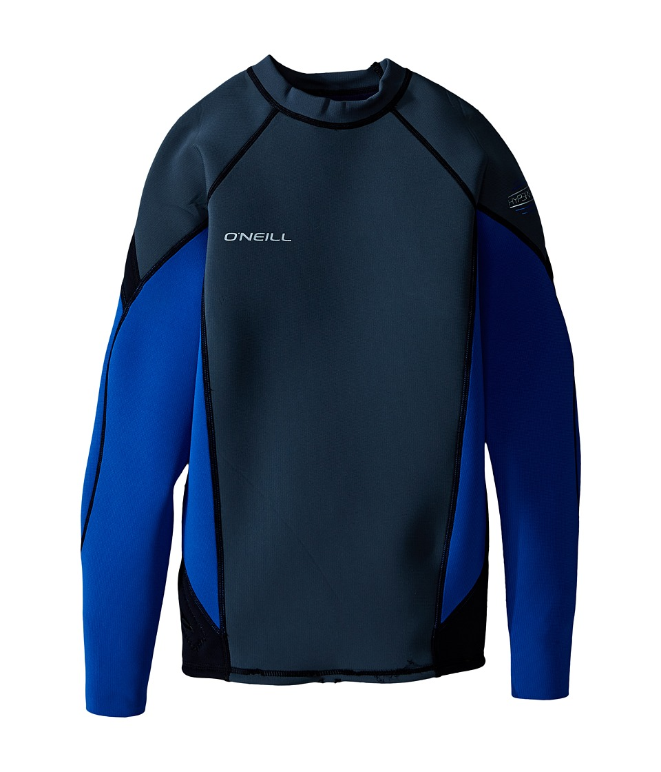 O'Neill - Hyperfreak 1.5mm Long Sleeve Crew (Graphite/Deep Sea/Black) Men's Swimwear