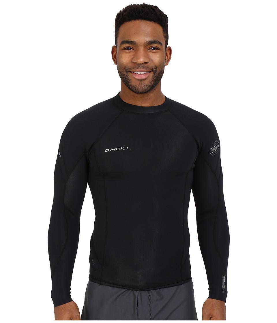O'Neill - Hyperfreak 1.5mm Long Sleeve Crew (Black/Black/Black) Men's Swimwear