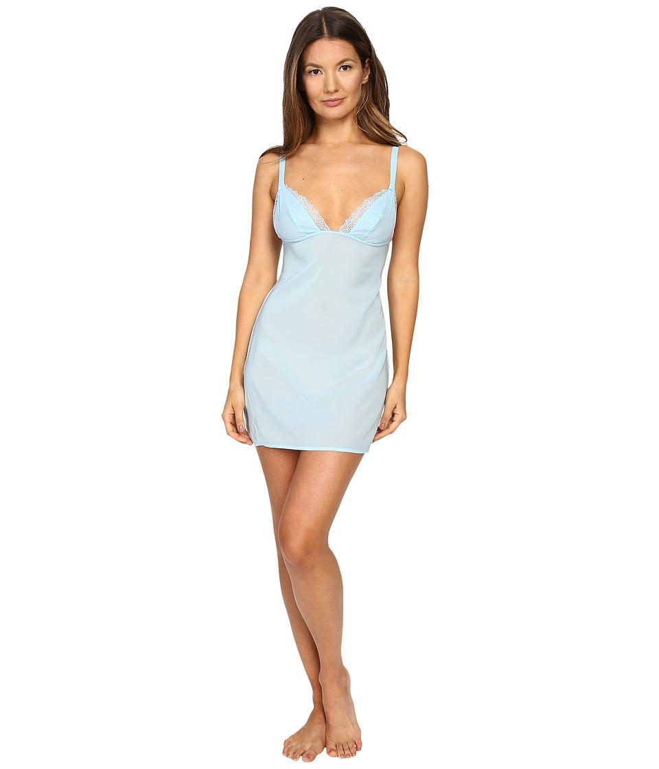 La Perla - Lace Flirt Chemise (Blue) Women's Lingerie