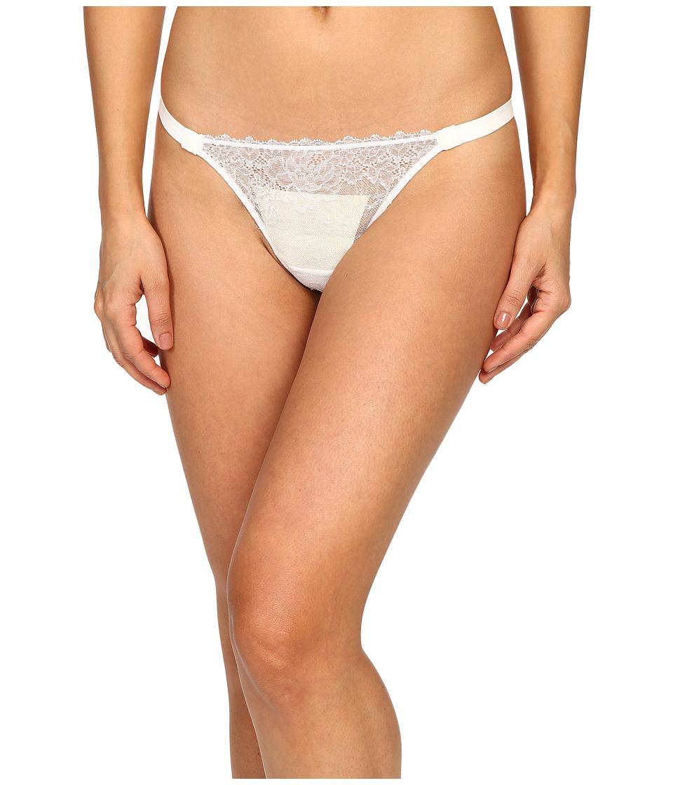 La Perla - Lace Flirt Thong (White) Women's Underwear