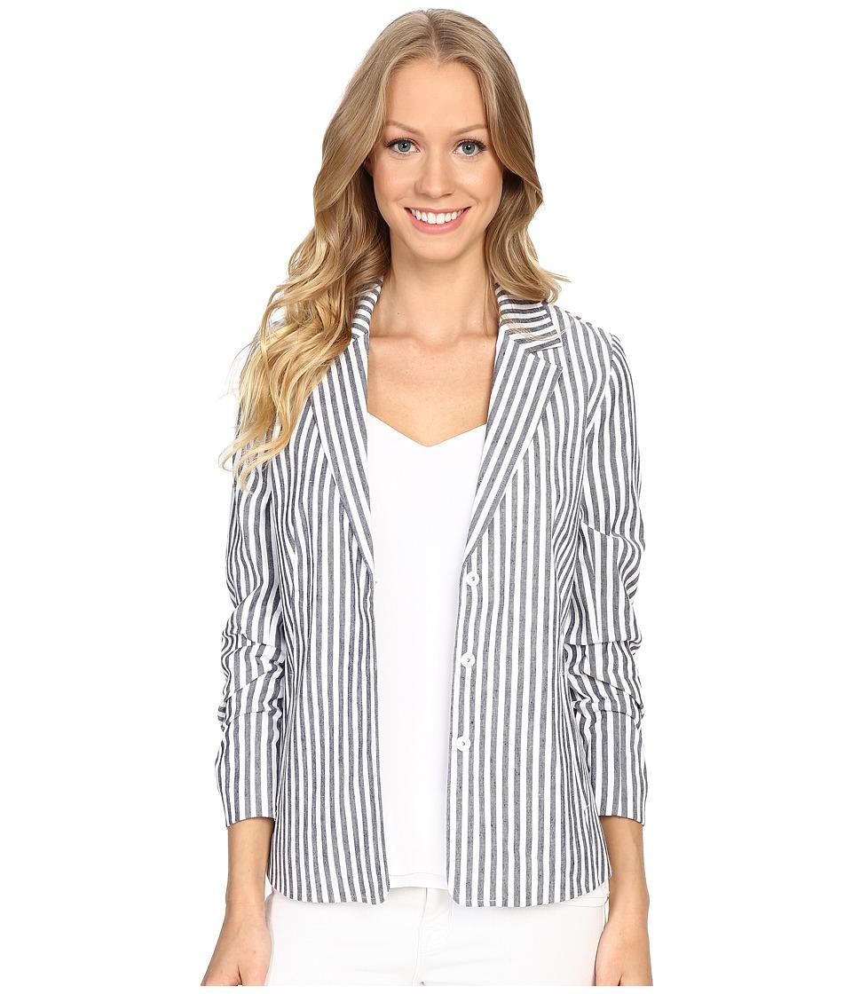 NYDJ - Crop Derby Jacket (Champion Navy/Soft White) Women's Coat