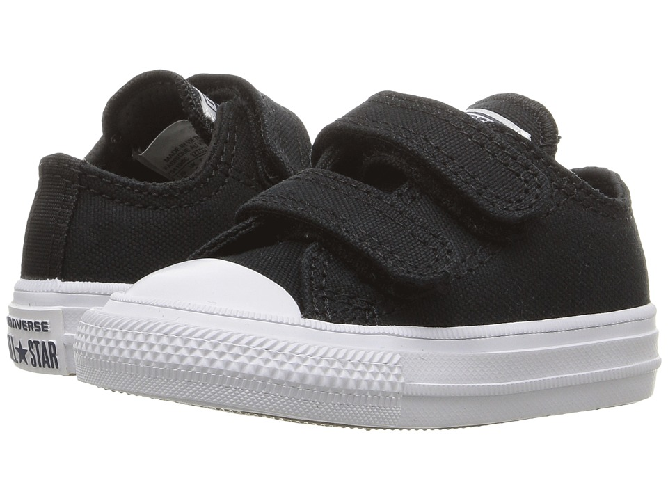 Converse Kids - Chuck II Ox 2V (Infant/Toddler) (Black/White/Navy) Kid's Shoes