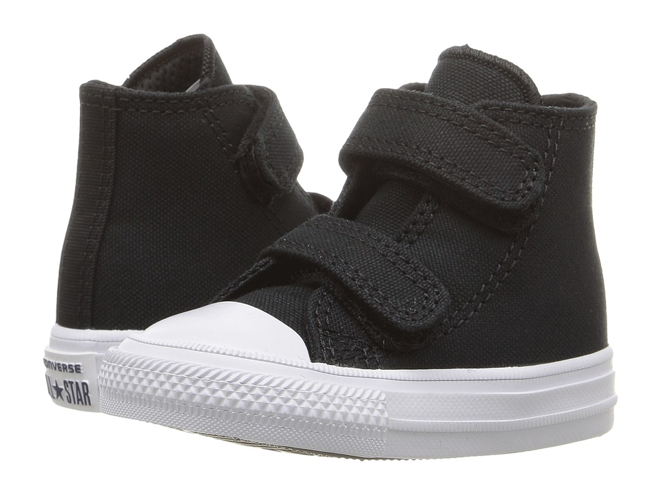 Converse Kids - Chuck II Hi 2V (Infant/Toddler) (Black/White/Navy) Kid's Shoes