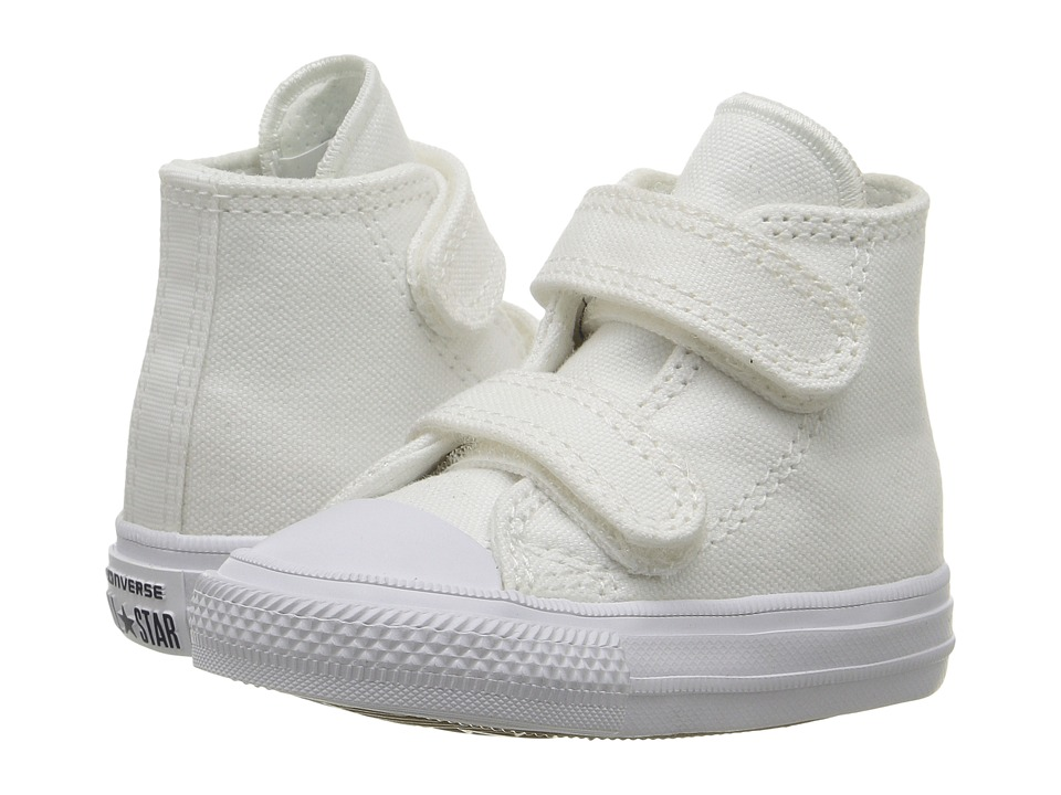 Converse Kids - Chuck II Hi 2V (Infant/Toddler) (White/White/Navy) Kid's Shoes