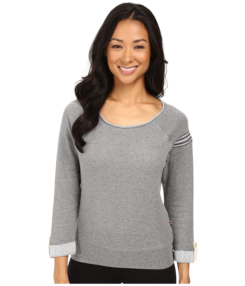 Jane & Bleecker - Embroidered Sweatshirt (Charcoal Heather) Women's Pajama