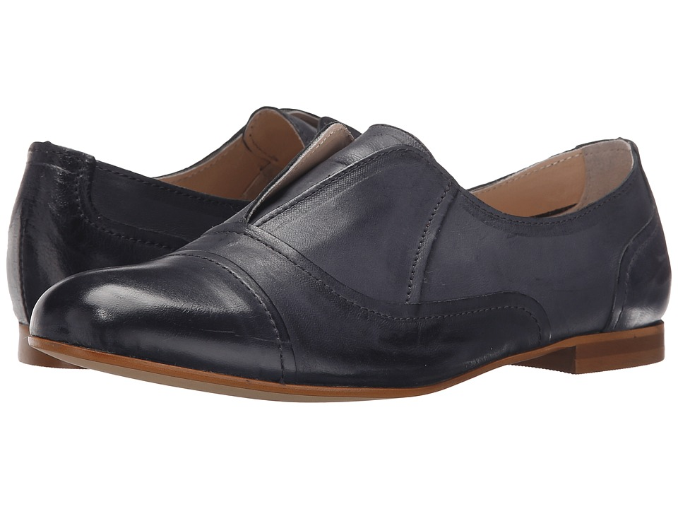 Massimo Matteo - Laceless Oxford (Navy) Women's Slip on Shoes