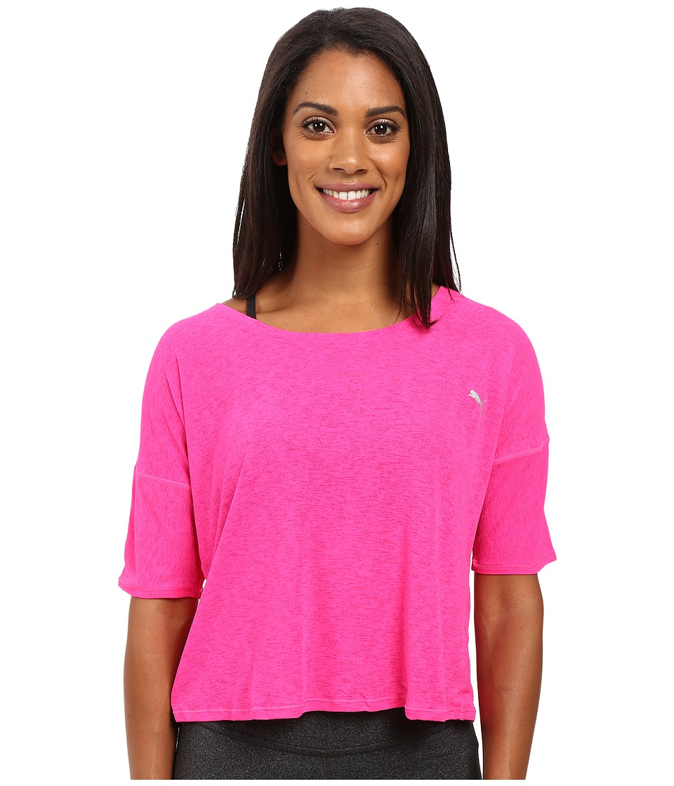 PUMA - The Good Life Tee (Pink Glo) Women's T Shirt