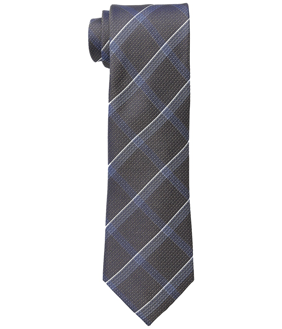 Kenneth Cole Reaction - Modern Windowpane (Taupe) Ties