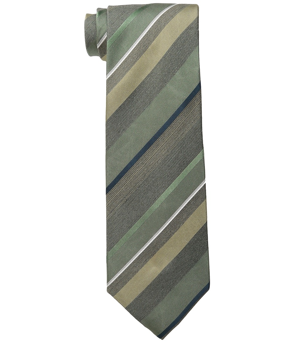 Kenneth Cole Reaction - Fine Color Stripe (Green) Ties