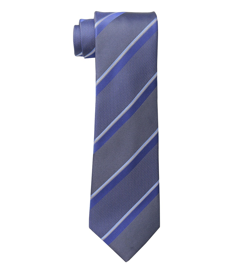 Kenneth Cole Reaction - Step Stripe (Grey) Ties