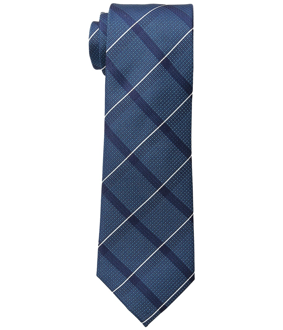 Kenneth Cole Reaction - Modern Windowpane (Teal) Ties
