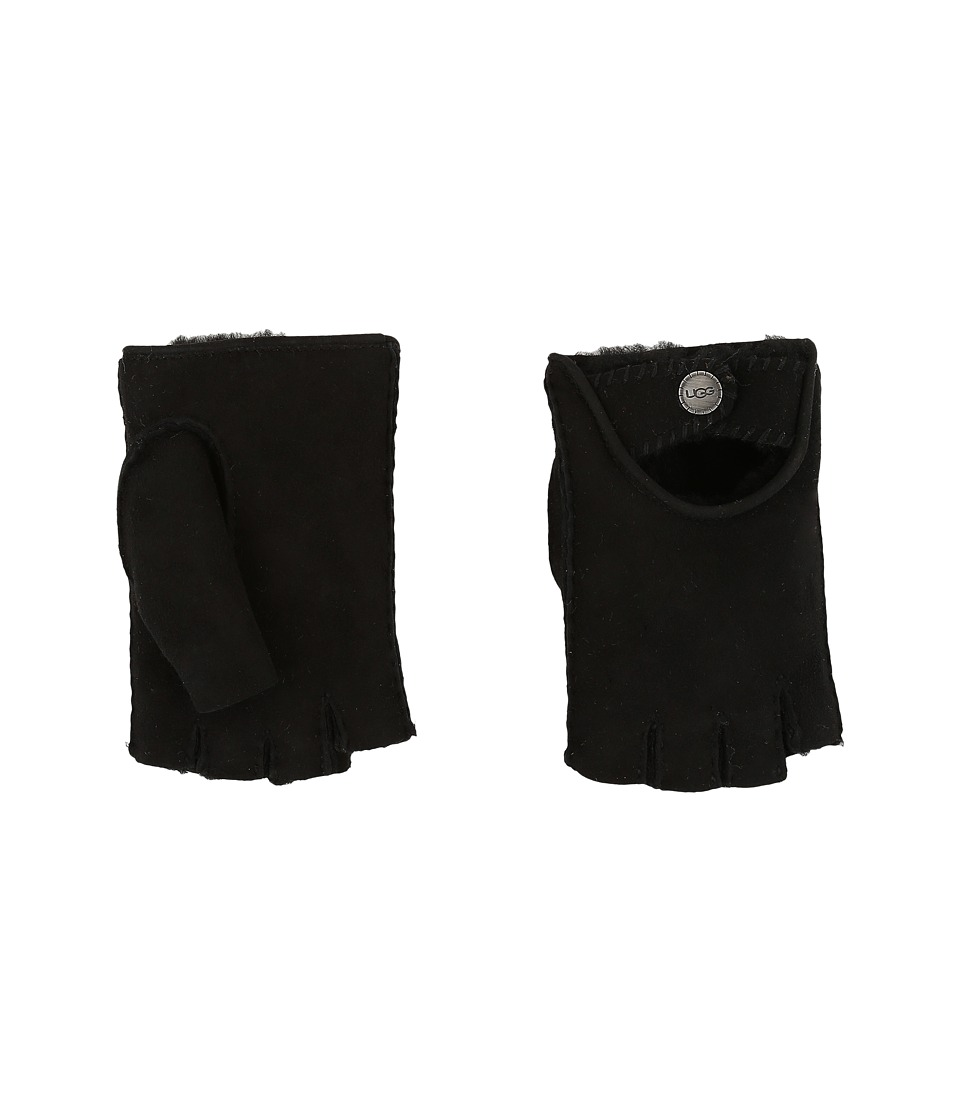 UGG - McKay Fingerless Driver Gloves (Black) Extreme Cold Weather Gloves