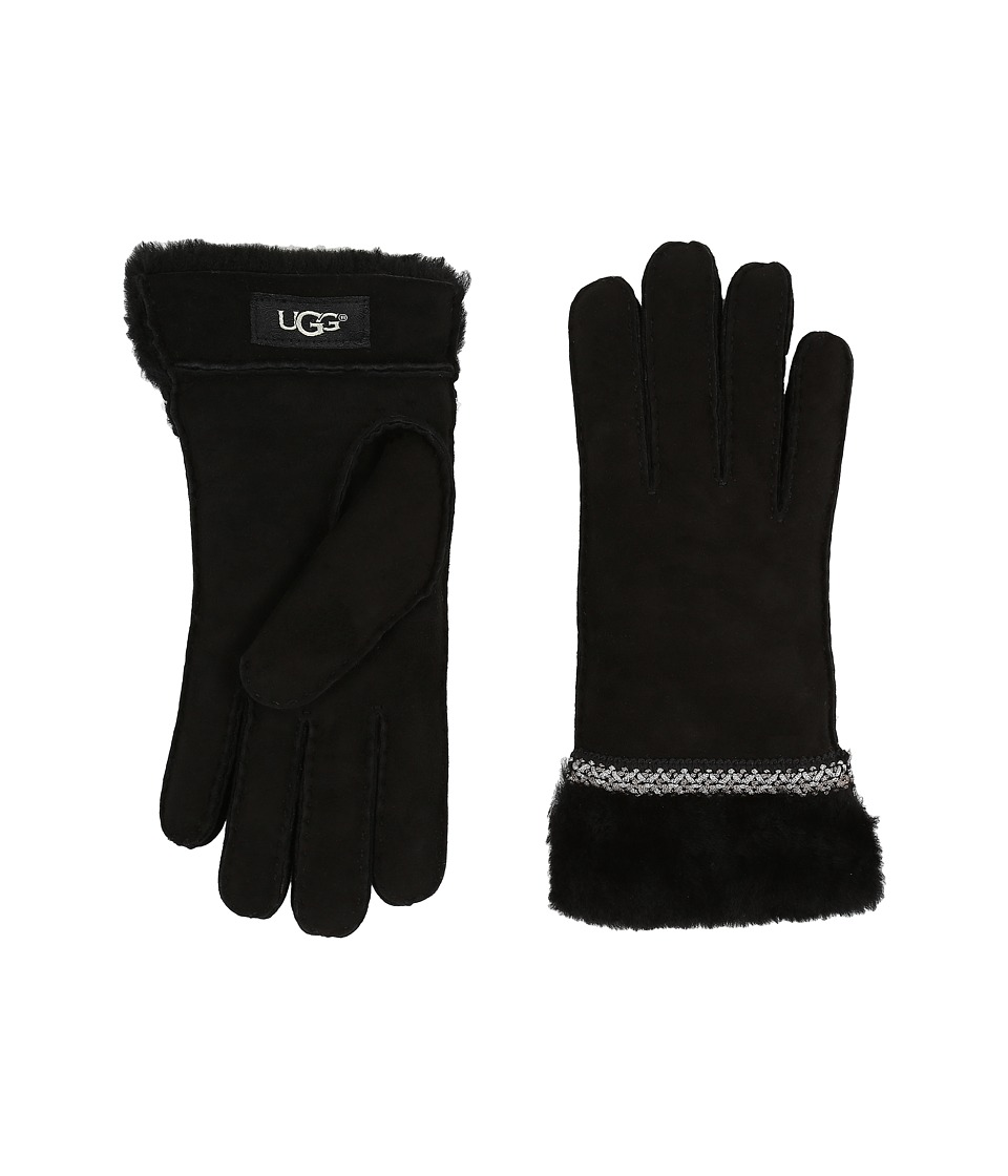 UGG - Classic Tasman Tape Gloves (Black) Extreme Cold Weather Gloves