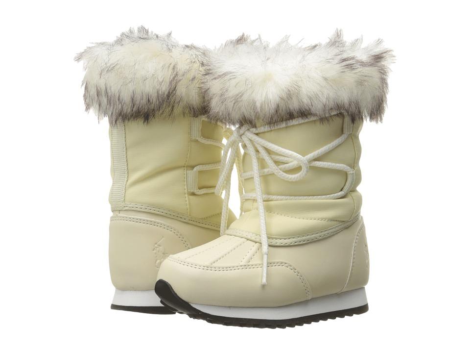 Polo Ralph Lauren Kids - Avalon (Toddler) (Cream Puffy Nylon) Girl's Shoes
